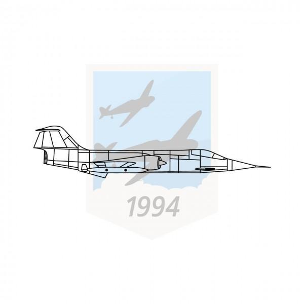 """Lockheed F-104 """"Starfighter"""" - Seitenansicht"""