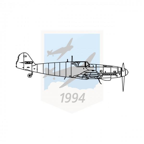 Messerschmitt Me 109 G10 - Seitenansicht
